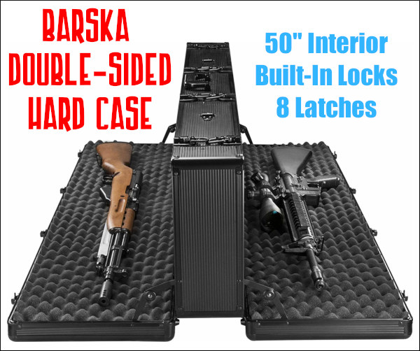 barska double hardsided rifle case