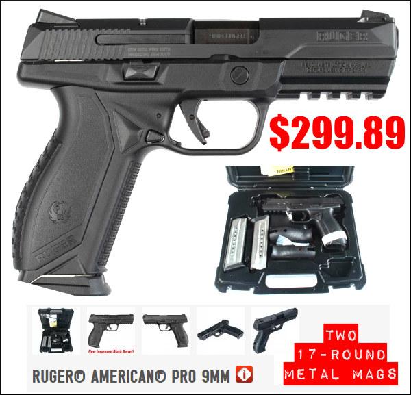 Ruger 9mm pistol american Pro handgun sale $299
