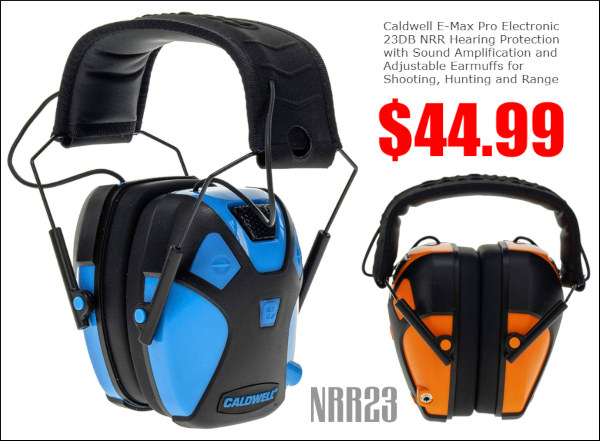 Caldwell electronic e-max earmuffs nrr 23 hearing protection muffs