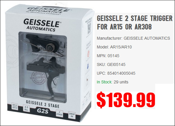 Geissele trigger ar ar10 ar15 two-stage 2-stage