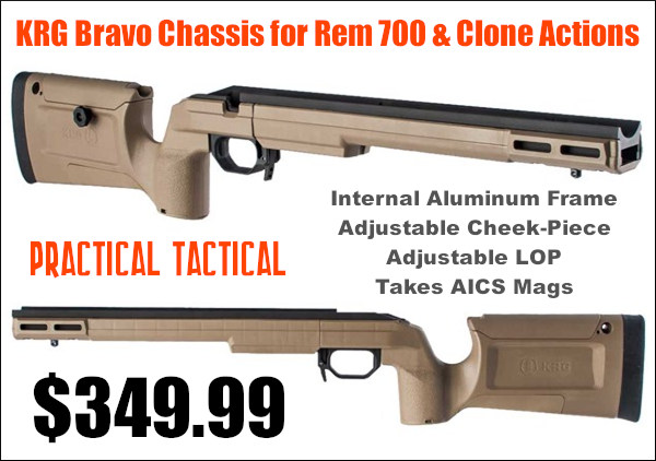 brownells krg bravo tactical hunting stock internal aluminum precision