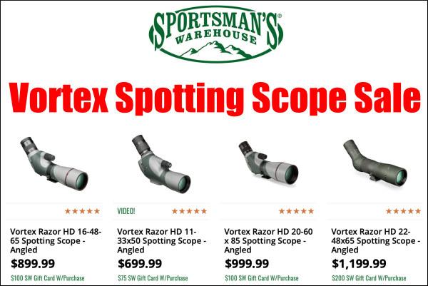 vortex spotting scope sale