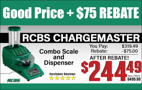 rcbs chargemaster powder scale dispenser rebate midsouth