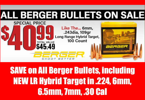 Berger Bullets Midsouth LRHT hunting sale