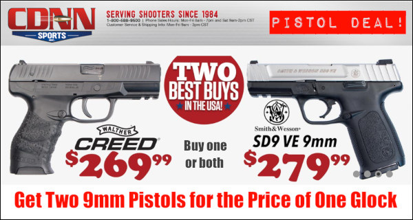 Walther Creed Pistol Smith Wesson SD9VE 9mm handgun sale