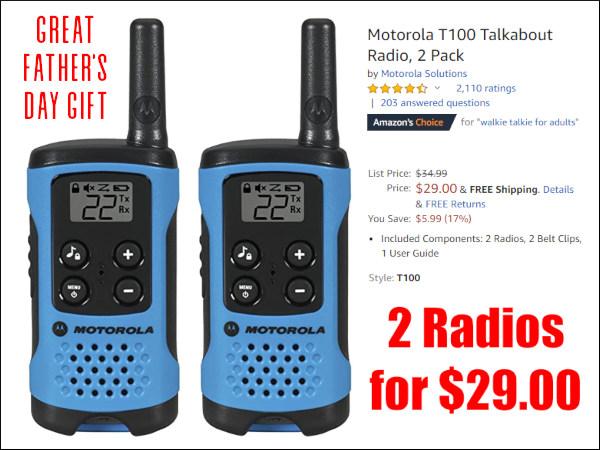 Motorola T100 walkie Talkie
