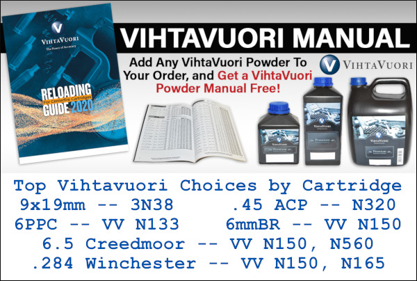 Vihtavuori powder load manual free