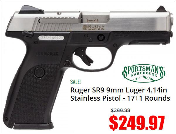 ruger sr9 9mm compact pistol handgun
