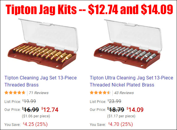 Tipton jag kit nickle-plated brass 25% off sale