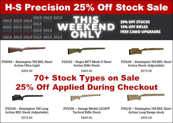 h-s precision stock gunstock inlett discount sale cybermonday black friday
