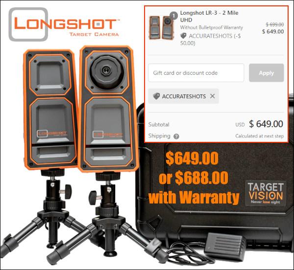 longshot targetvision LR-3 camera long range black friday sale