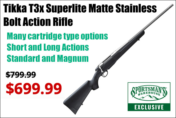 tikka rifle sale