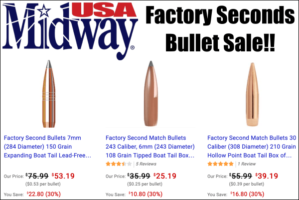 Factory seconds bullets