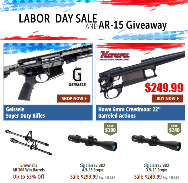 Brownells 2020 labor day sale ar15 howa