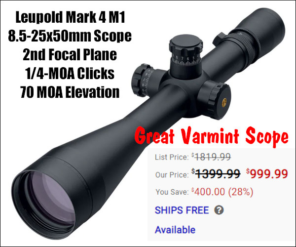 Leupold 8.5-25x50mm Mark 4 tactical M1 Scope