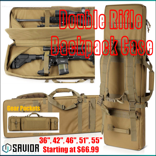 Savior Tactical Double Rifle case pistol pack backpack