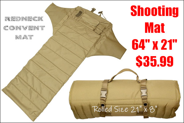 padded roll up shooting mat
