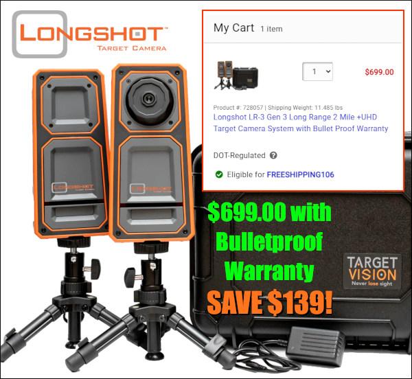 longshot lr-3 UHD target camera sale MidwayUSA $139