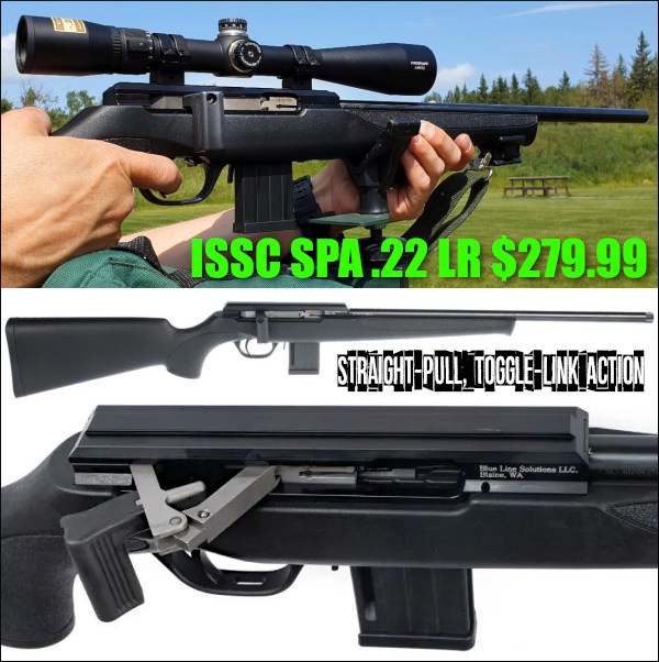straight pull ISSC toggle link .22 LR rimfire rifle sale