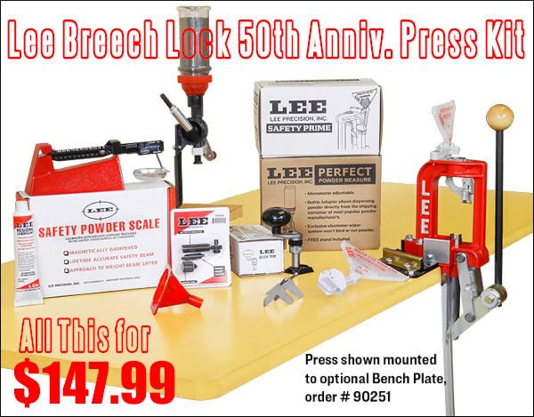 Lee Breech lock single stage reloading press scale powder measure priming tool kit