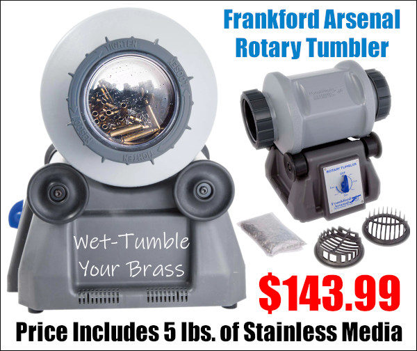 AccurateShooter Deals of the Week discount Frankford Arsenal Tumbler stainless media wet tumble