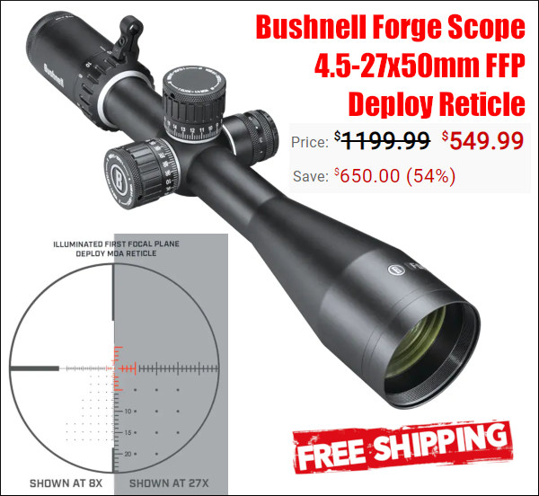 bushnell forge scope sale Midwayusa save