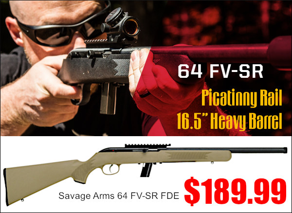 savage arms model 64 FV-SR FDE semi-auto rifle NRL22