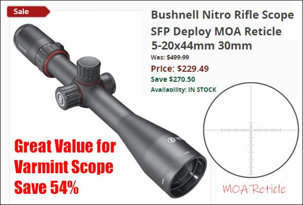 Bushnell Nitro 5-20x44mm SFP scope varmint