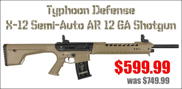 typhoon defenses 12 ga gauge magazine mag-fed shotgun