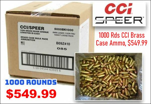 CCI bulk 9mm luger handgun ammo ammunition