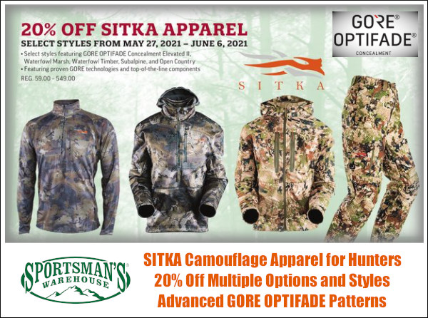 sitka gear hunter hunting clothing camo camouflage gore optifade