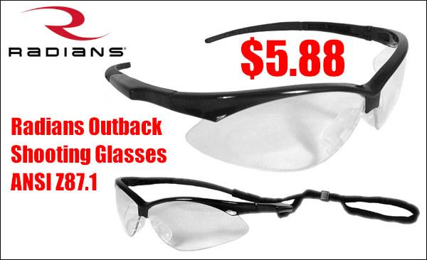 radians outback shooting safety eyewear glasses