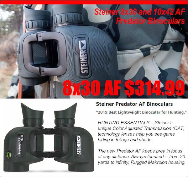 Steiner 8x30 10x42 binocular Auto Focus AF hunting optic CAT lens