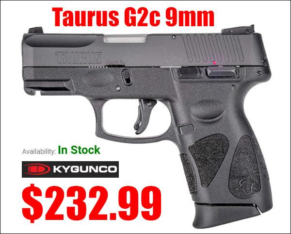 Taurus G2c 9mm Luger carry ccw pistol handgun sale