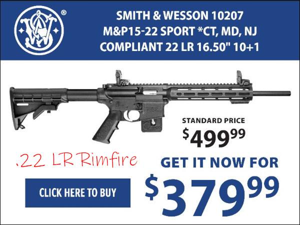 .22 LR rimfire AR M&P 15-22 Smith wesson