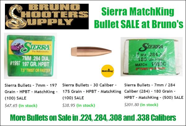 bruno shooters sierra SMK matchking 7mm .284 .30 caliber .308 .22