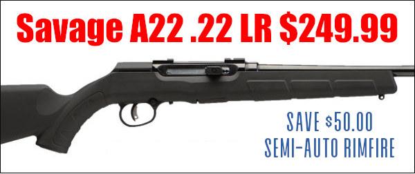 Savage A22 .22 LR 22LR rifle sale discount