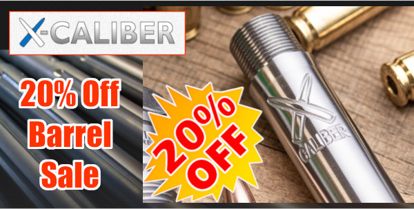 x-caliber barrel steel carbon Thanksgiving black fridaysale