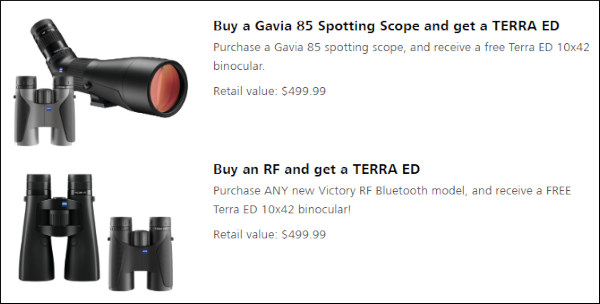 zeiss bargain discount rebate free binoculars eyepiece spotting scope