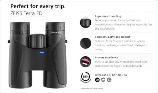 Zeiss conquest scope terra binoculars $100 off sale holiday