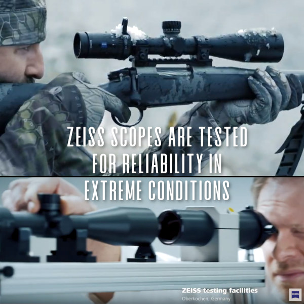 Zeiss optics riflescope scope impact shock salt freezing G-Force immersions test testing