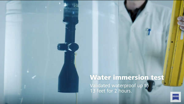 Zeiss optics riflescope impact shock salt freezing G-Force immersions test testing